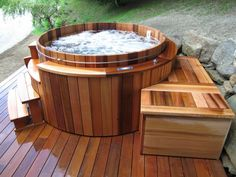 Great Tips For Landscaping Around A Hot Tub – Pool Landscape Ideas Spa Jacuzzi, Jacuzzi Outdoor, Hot Tub Backyard, Hot Tub Garden, Backyard Pool Designs, Pool Landscaping, Home Spa Room, Spa Interior, Under Decks