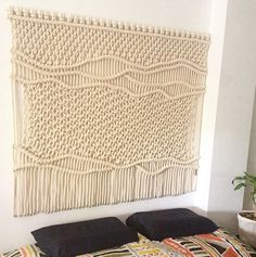 Macrame headboard by ranrandesign - very cool - and how many hundreds of HOURS to design and execute?!!!
