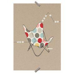 """Poster Cadeira """"Butterfly"""" - Coleção Mercatto Casa e Apto 41"""