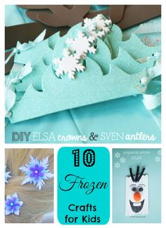 """10 Frozen Crafts for Kids by Jennifer McLaughlin on May 22nd, 2015 14 0 0 0  Frozen Crafts for Kids""""Do you want to build a...?"""" Everyone knows that song by heart now! Well, do you want to make 10 Frozen Crafts for Kids? Remember the 10 Frozen Arts and Crafts, Pin the Nose On Olaf, and our DIY Frozen Craft - How to Make Frozen Snowflakes we shared last time? In this post, we highlight 10 Frozen crafts for kids that can used for frozen themed parties, craft day at home or to get geared up for…"""