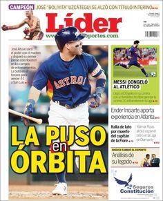 2018-03-05 Portada de Lider en deportes (Venezuela)