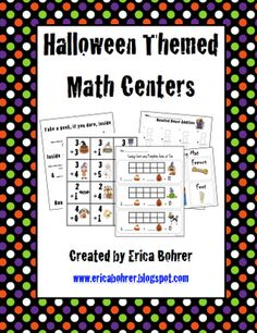 Erica Bohrer's First Grade: Halloween Themed Math Centers and Freebies