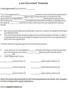 simple interest loan agreement template   koco yhinoha - simple ...
