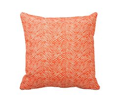 DESIGN, TEXTILE, CRAFTSMANSHIP & CARE This pillow cover features a orange and white printed pattern that is continuous on both front and back with an envelope closure. All RFS pillow covers are handcrafted in the United States and made with 100% cotton duck. To care for your pillow cover wash in cold water, using a gentle detergent (Woolite). SIZING Please remember that sizes listed denote the pillow form size, not the size of the pillow cover. To ensure a snug and polished fit all RFS…