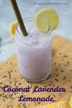 Fancy Drinks, Yummy Drinks, Healthy Drinks, Eat Healthy, Healthy Recipes, Lavender Drink, Lavender Cocktail, Fresco, Mermaid Drink