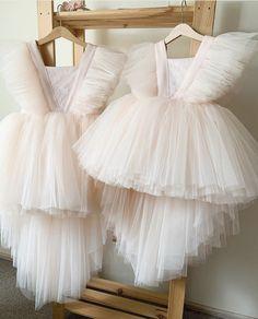Frocks For Girls, Kids Frocks, Little Girl Dresses, Flower Girl Dresses, Baby First Birthday Dress, Puffy Dresses, Kids Dress Wear, Baby Gown, Baby Tulle Dress