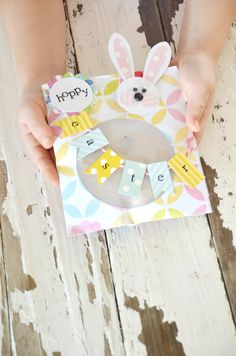 DIY Easter Gift - decorate a paper cd holder and insert homemade cookie!