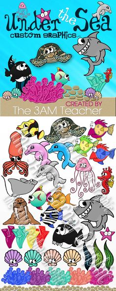 Under the Sea Clip Art Collection! Custom Graphics by The 3AM Teacher