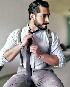 Suit Up, Suit And Tie, Looking Dapper, Beard No Mustache, Well Dressed Men, Modern Man, Bearded Men, Gorgeous Men, Leather Men