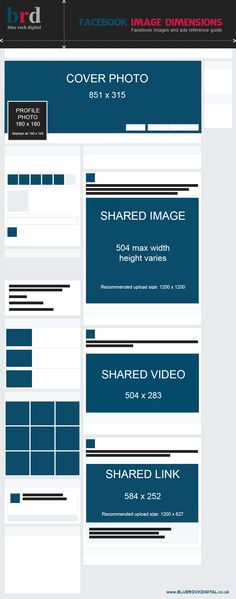 Infographic: Social Media Sizing - A Guide to Designing for Social ...