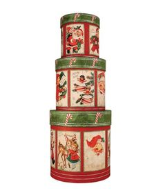 Retro Christmas Nesting Boxes from TheHolidayBarn.com