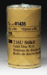 """1435-3M   320A Grit 6"""" Gold Stikit"""