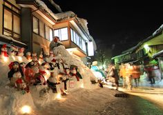 Siramine mura, Japan's snowman festival.  I lived here for 3 years.  Just a tiny mountain village.....
