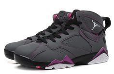 new product 7cedb d9ea9 Air Jordan 7 GS Valentines Dark Grey White-Black Discount 8067 Nike Running  Shoes Women