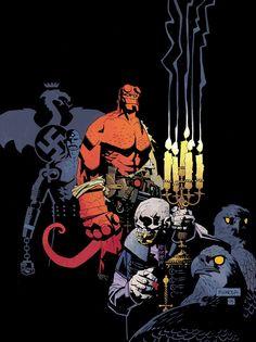 """Mike Mignola - Dibujo para una portada del cómic """"Despierta al Demonio"""", de Hellboy"""