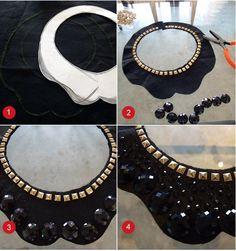 Diy Jewelry Necklace, Collar Necklace, Jewelry Crafts, Beaded Jewelry, Jewelery, Handmade Jewelry, Beaded Necklace, Necklaces, Maxi Collar