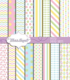 Easter Digital Papers. Printable paper set. by MissAngelClipArt