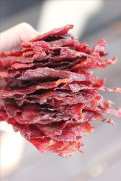 Pepper Jalapeno Beef Jerky recipe: Try this Dr. Pepper Jalapeno Beef Jerky recipe, or contribute your own. Best Beef Jerky, Homemade Beef Jerky, Jerky Recipes, Venison Recipes, Traeger Recipes, Rib Recipes, Jalapeno Beef Jerky Recipe, Dry Rub Beef Jerky Recipe, Deer Jerky Recipe
