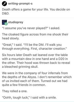 D&D with Death...