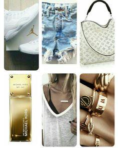 Jeans-white-gold-light fashion
