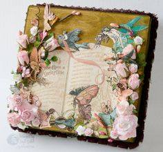 Psycho Moms Scrapbooks: Once Upon A Spring Time - Cigar Box