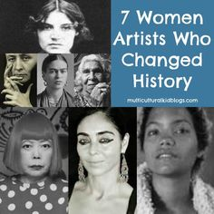 I love these 7 women artists from around the globe to share with children during Woman's History Month. Lean about the art and lives of seven amazing women.