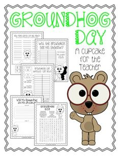 FREE groundhog day {printables} - A Cupcake for the Teacher - TeachersPayTeachers.com