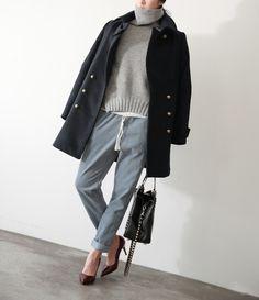 turtleneck and heels