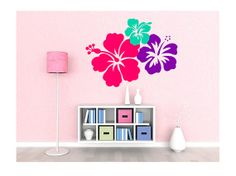 Large 3 Hibiscus Flowers Vinyl Wall Decal 3 by VinylExposure, $45.00