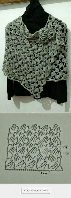 Blusa de crochê com bonito pon |