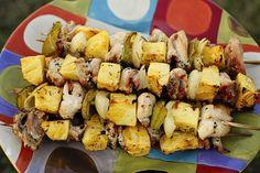 grilled pineapple chicken skewers #paleo #clean #dinner