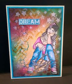 Lost in thougt, IndigoBlu and distress Lost In Thought, Card Making, Thoughts, Indigo Blue, Blog, Teenagers, Drawings, Handmade Cards, Stamps