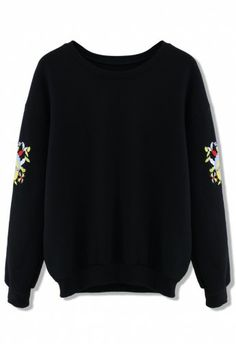 simple black with embroidered detail