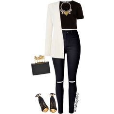 A fashion look from February 2016 created by @styledbytiff4u featuring Ted Baker tops, Armani Jeans blazers and Balmain pumps. Browse and shop related looks.