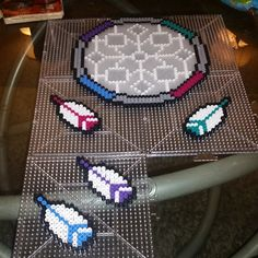 Dreamcatcher perler beads by laura_duran5314