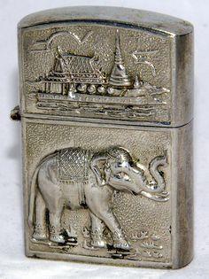 Vintage Cigarette Lighter, Made In Thailand.