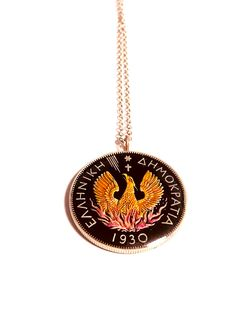 Mail Sign, Coin Pendant, Phoenix, Greece, Coins, Cufflinks, Enamel, Charmed, Stainless Steel