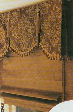 Roman shade with valance