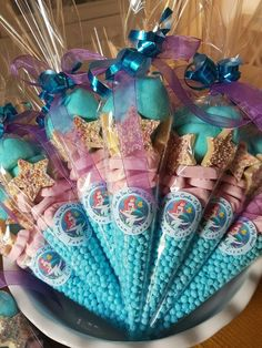 ideas for baby shower party favors girl mermaid birthday Diy Mermaid Birthday Party, Mermaid Party Favors, Mermaid Party Decorations, Little Mermaid Birthday, Baby Shower Party Favors, Birthday Party Decorations, Birthday Ideas, 5th Birthday, Mermaid Themed Party