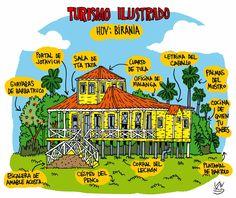 #Turismo ilustrado: Birania. Viñeta de Alen Lauzán en Diario de #Cuba