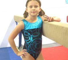 Gymnastics Girls Leotard Childrens size 4 6 8 by FantasyLeotards