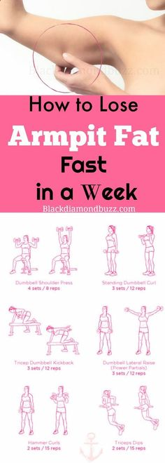 How to Lose Armpit Fat Fast in a Week - Slim arms fast now .Included are the best exercises to reduce flabby upper arms fat and bat wings quickly.Get rid armpit fat now. Try it. #reducearmfat #losearmpitfat #exercises #upperbody www.blackdiamondb...