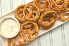 Baked Onion Rings - only 75 calories!