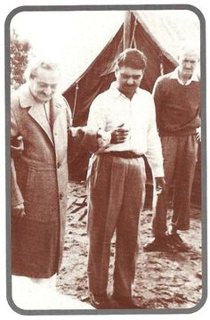 Weekly Reflections No. 29 - Meher Baba's First Visit to Avatar's Abode! / Avatar's Abode ; Baba with Eruch Jessawala & Dr.Denis O'Brien ; Glow mag.August 2002 p.18