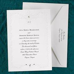 Romantic Sparkle Wedding Invitation  |  40% OFF  |  http://mediaplus.carlsoncraft.com/Wedding/Wedding-Invitations/3124-BS1307-Romantic-Sparkle--Invitation.pro