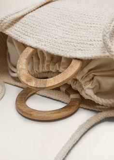 Jute Fabric, Cotton Fabric, Sewing Hacks, Sewing Tutorials, Sock Dolls, Braid Designs, Inside Bag, Basket Bag, Handmade Design