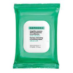 Lingettes express démaquillantes & purifiantes - Acide salicylique - Sephora