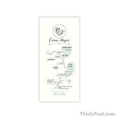 """Mapas de boda - """"CORONA LAUREL"""""""