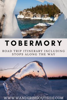 Tips and stop overs before heading into Tobermory from Toronto will break up the road trip. The stunning Tobermory will be waiting for the adventurous. Weekend Trips, Vacation Trips, Day Trips, Lions Head Ontario, Places To Travel, Places To See, Tobermory Ontario, Ontario Travel, Toronto Travel
