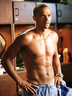 Jesse Williams aka Dr. Jackson Avery. This man is beautiful.